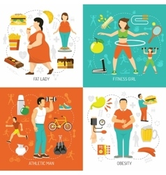 Obesity And Health Concept vector image