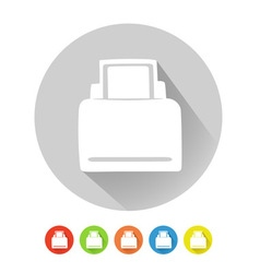 Printer symbol vector image vector image