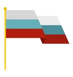Russian flag icon flat style vector image