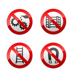 set prohibited signs - technical symbols vector image vector image