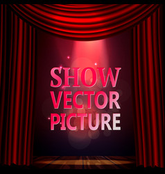 Sign for theater a scene and a falling vector