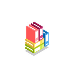 stack of colored folders binder icon vector image