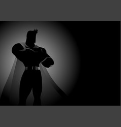 Superhero in gallant pose vector