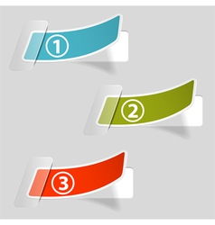 Options sticker labels vector