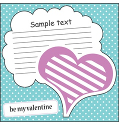 Card with heart and message cloud vector