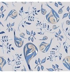 rose doodle pattern vector image