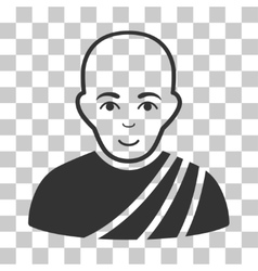 Buddhist monk icon vector