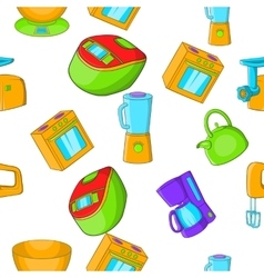 Home electronics pattern cartoon style vector