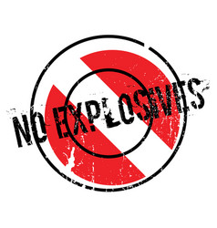 No explosives rubber stamp vector