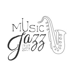 Jazz live music concert black and white poster vector
