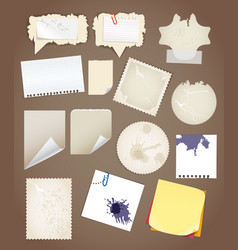 Collectionn of vintage paper sheets vector