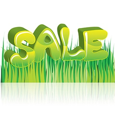Sale green 3d word vector