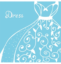 Wedding invitation with dress vector