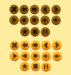 Buttons game vector