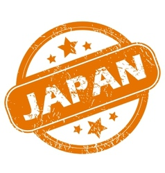 Japan grunge icon vector