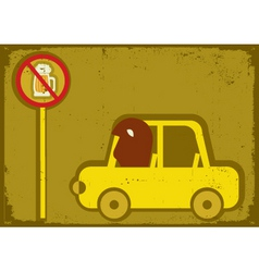 No drink and drive vector