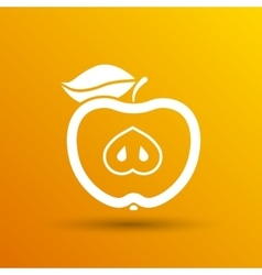 Apple element logo nature vector