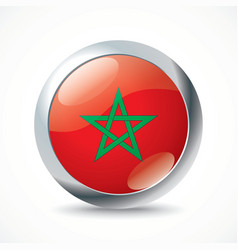 Morocco flag button vector