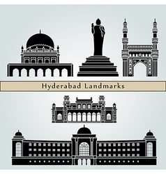 Hyderabad landmarks and monuments vector
