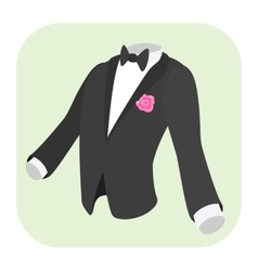 Men formal suit cartoon icon vector