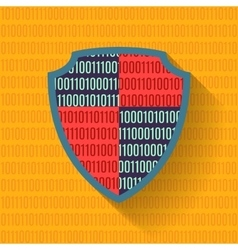 Flat icon data protection shield vector