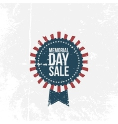 Memorial day sale national label with text vector