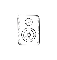 Mp3 player sketch icon vector