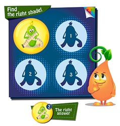 Find the right shade cucumber vector