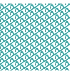 Abstract seamless pattern of waves Geometric vector image