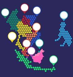 Asean map2 vector
