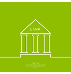 Bank building with columns vector