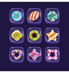 Bubbles With Sugar Candies Inside vector image