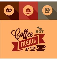 Coffee menu design elements vector