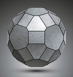 Dimensional galvanized element created from vector