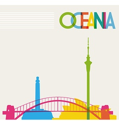 Diversity monuments of oceania famous landmarks vector