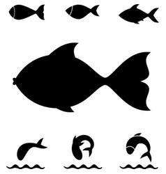fish icon or logo vector image vector image