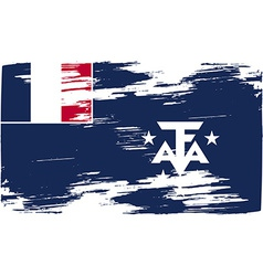 Flag of French Southern and Antarctic Lands with vector image