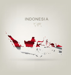 flag of Indonesia as a country vector image vector image