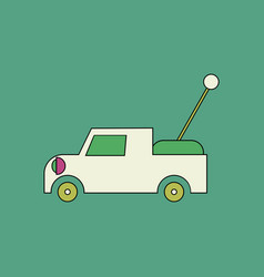 Flat icon design collection kids truck vector