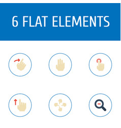 Flat icons slide zoom out swipe and other vector