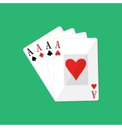 Four aces gambling entertainment vector