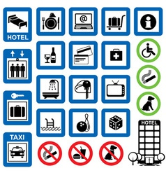 icons hotel vector image