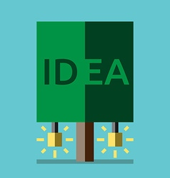 Idea tree flat style vector