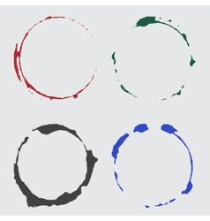 ink cup spots in color vector image vector image
