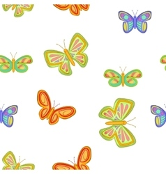 Insects butterflies pattern cartoon style vector