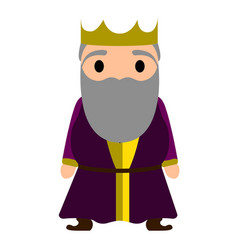 isolated king cartoon character vector image