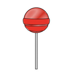 isolated lollipop candy design vector image vector image