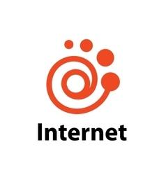 Logo internet vector