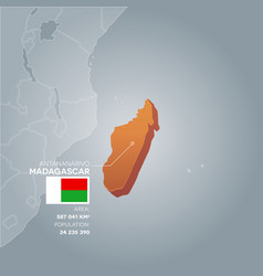madagascar information map vector image vector image