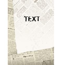 Newspaper background vector
